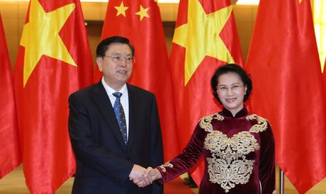 Chu tich Quoc hoi Trung Quoc tham Viet Nam - Anh 1