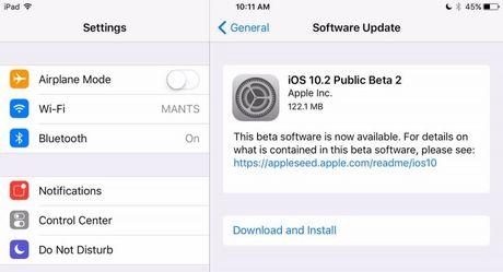 Apple mo cua iOS 10.2 beta 2 rong rai cho nguoi dung - Anh 1
