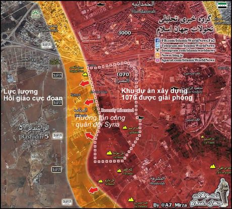 Video chien su Aleppo: Quan doi Syria chiem hai cao diem, diet hang loat phien quan - Anh 1