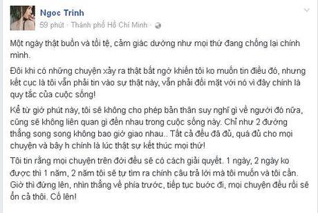 Ngoc Trinh buon the tham, chinh thuc cham dut voi tinh cu dai gia - Anh 3