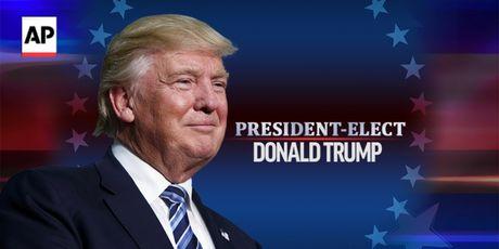 Nguoi ung ho Donald Trump an mung chien thang - Anh 1