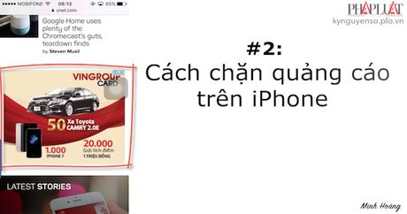 Meo vat cong nghe: Cach chan quang cao tren iPhone - Anh 1