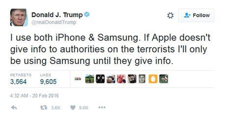 Ong Donald Trump tung 'tweet' nhung gi ve iPhone? - Anh 2