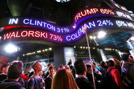 Truc tiep bau cu My: Trump-169, Clinton-122 - Anh 1