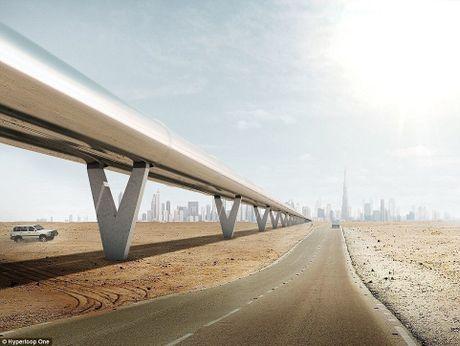 Dubai xay tau sieu toc 1.220 km/h - Anh 1