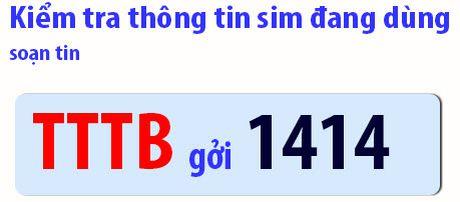 Cach kiem tra thong tin dang ky thue bao VinaPhone tra truoc - Anh 1
