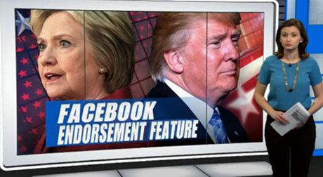 Bau cu My: Donald Trump chien thang Hillary Clinton tren... Facebook - Anh 1