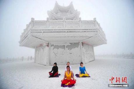 Sung sot truoc anh yoga cuc doc cua gai xinh Trung Quoc - Anh 4