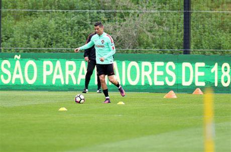 Ronaldo lai bi 'bo roi' trong buoi tap cua Bo Dao Nha - Anh 2