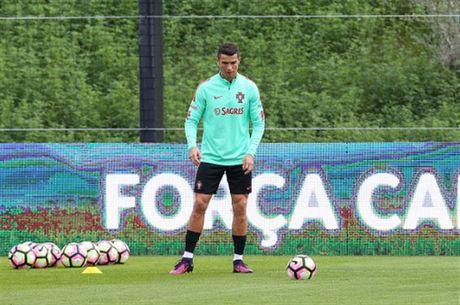 Ronaldo lai bi 'bo roi' trong buoi tap cua Bo Dao Nha - Anh 3
