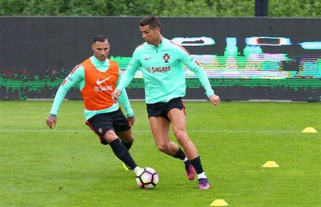 Ronaldo lai bi 'bo roi' trong buoi tap cua Bo Dao Nha - Anh 6