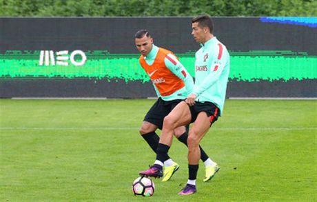 Ronaldo lai bi 'bo roi' trong buoi tap cua Bo Dao Nha - Anh 7