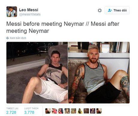 Messi 'thay doi' hoan toan sau khi gap Neymar - Anh 2