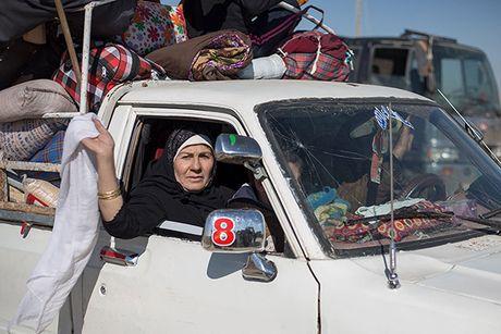 Chum anh nguoi dan Iraq chay loan khoi Mosul - Anh 1