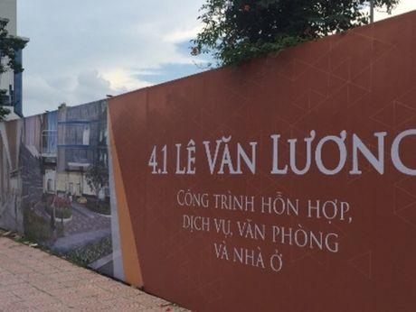 Diem mat du an xay dung cham trien khai tren duong Le Van Luong - Anh 1