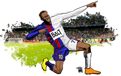 Neu ton tai cau thu ket hop giua Messi, Ronaldo va… Usain Bolt - Anh 2