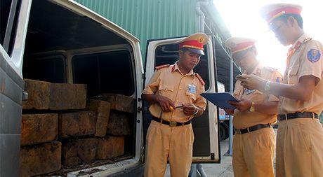 Quang Nam: O to gia dang xe tang de cho go lau - Anh 1