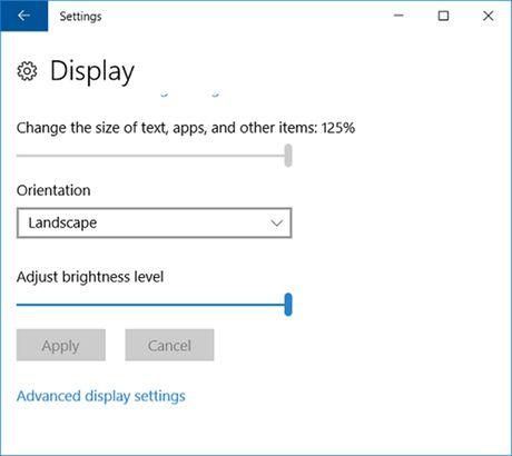 3 cach dieu chinh do sang man hinh trong Windows 10 - Anh 2