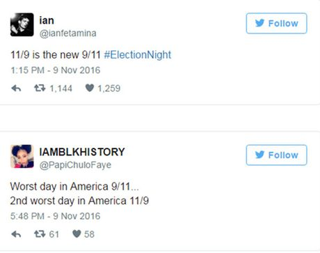 Nguoi phan doi Trump vi ngay bau cu 9/11 voi tham kich khung bo 11/9 - Anh 1