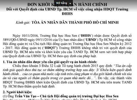 Truong DH Hoa Sen kien UBND TP.HCM - Anh 1