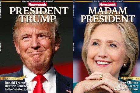 Trang bia Newsweek goi ba Clinton la Tong thong - Anh 2
