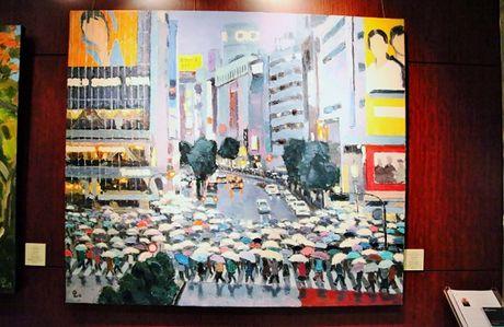 Trien lam tranh phong canh Nhat Ban cua hoa sy Pham Luan - Anh 6