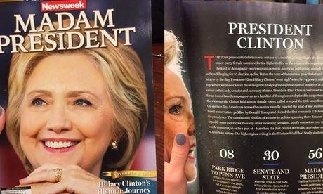 Newsweek thu hoi 125.000 an ban dac biet vi du doan bau cu sai - Anh 1
