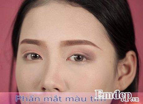Trang diem co dau tu nhien trong suot voi tone cam hong - Anh 8