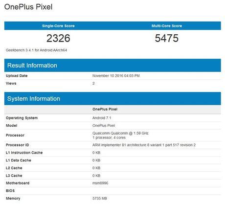 OnePlus Pixel lo dien: chip Snapdragon 820, RAM 6GB - Anh 2