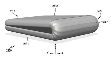 Hinh anh moi ve smartphone man hinh deo cua Samsung - Anh 2
