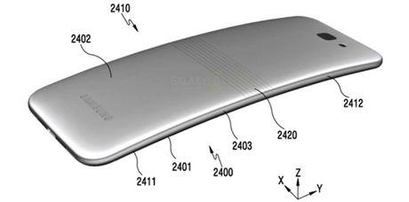 Hinh anh moi ve smartphone man hinh deo cua Samsung - Anh 3