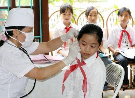 Thanh Chuong: Phan dau 97-98% ty le hoc sinh tham gia BHYT - Anh 1