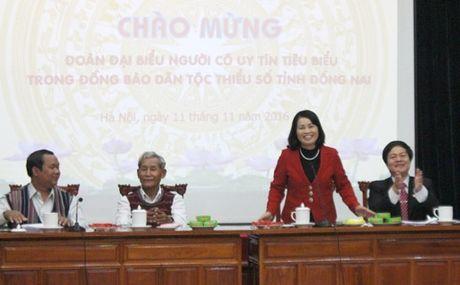 Doan dai bieu nguoi uy tin tieu bieu tinh Dong Nai tham MTTQ Viet Nam - Anh 1