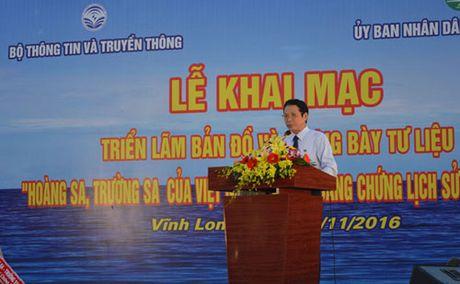 Tu lieu chu quyen Hoang Sa, Truong Sa den voi Vinh Long - Anh 1