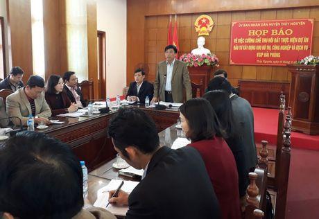 Giai phong mat bang VSIP Hai Phong: Tiep tuc cuong che 18 ho dan - Anh 1