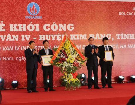 Ha Nam: Khoi cong xay dung Khu cong nghiep Dong Van IV - Anh 1