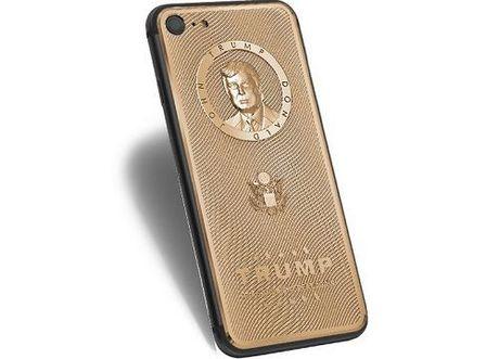 iPhone 7 khac hinh Donald Trump ma vang gia 3.500 USD - Anh 1