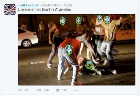 Messi va dong doi bi chi trich nang ne khi Argentina thua tham Brazil - Anh 1