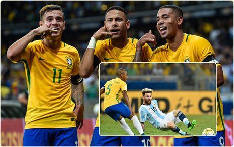 Cham diem Brazil 3-0 Argentina: Neymar che mo Messi - Anh 2