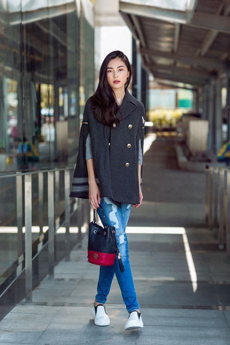 Hotgirl Helly Tong 'dung style' voi chan dai Gigi Hadid - Anh 2