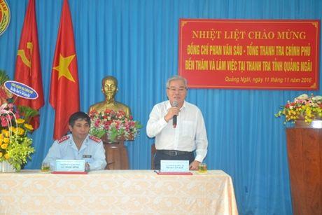 Tong Thanh tra: Tham va lam viec tai Thanh tra tinh Quang Ngai - Anh 1