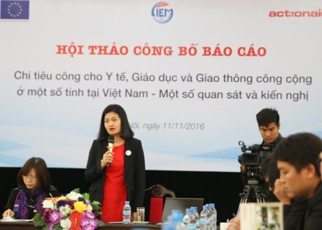 """Cong bo nghien cuu """"Chi tieu cong cho Y te, Giao duc va Giao thong cong cong"""" - Anh 1"""