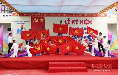 Truong THPT Nghi Loc 5 don bang cong nhan truong chuan quoc gia - Anh 1