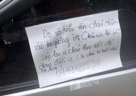 Gap nam sinh lam vo guong o to va de lai loi xin loi - Anh 1