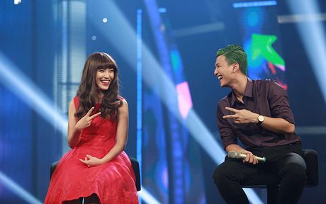 Hoan doi: Cap doi Hoang Oanh - Huynh Anh thi nhau 'lam xau' - Anh 1