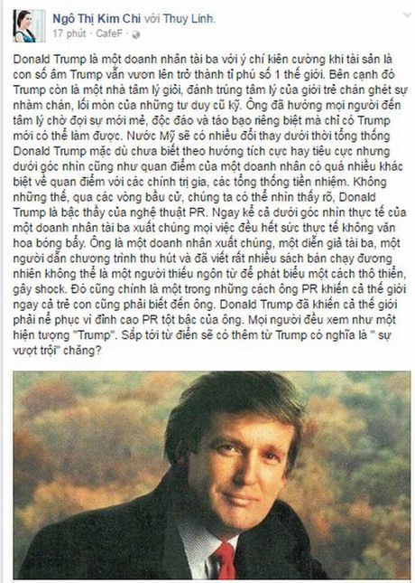Donald Trump duoi goc nhin cua nu doanh nhan dat Viet - Anh 2