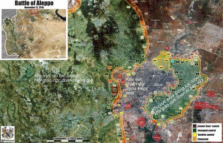Chien su Aleppo: 500 tay sung khung bo nop mang truoc quan chinh phu Syria - Anh 1