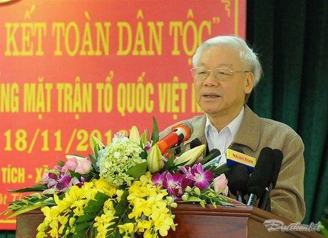Tong Bi thu, Chu tich Mat tran du Ngay hoi dai doan ket tai thon Phat Tich - Anh 2