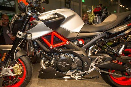2017 Aprilia Shiver xuat hien 'ghenh chien' Ducati Monster - Anh 6