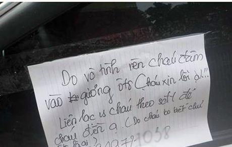 Lam vo guong o to, de lai loi xin loi: Nam sinh len tieng - Anh 1